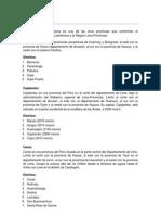 HUACHO Provincias y Distritos-Lima