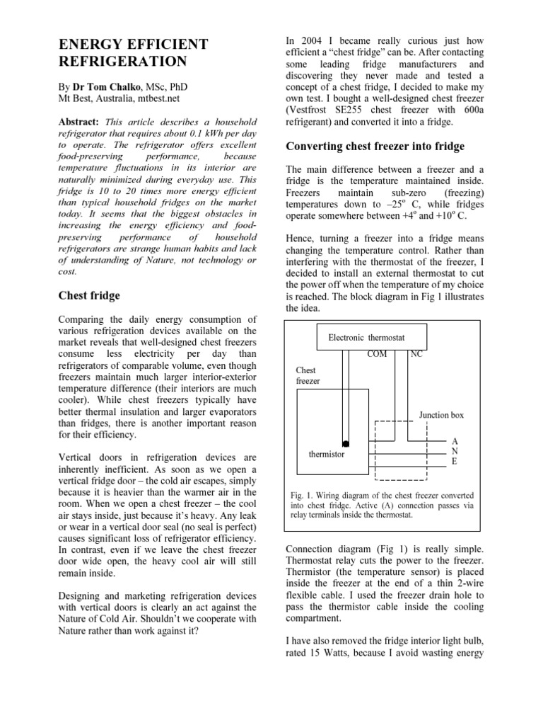 Convert Chest Freezer Into A Fridge Refrigerator Thermostat Comparable Wiring Diagrams