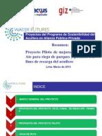 Resumen Del Proyecto Piloto AWF (Para Municipio Ate)