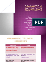 Grammatical Equivalence