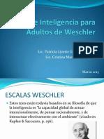 Test de Inteligencia Para Adultos de Weschler