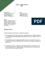 Subject English TOEIC II 2012