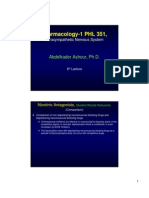 351 Pharmacology PNS 6th Lecture
