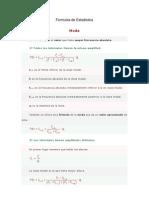 Formulas de Estadistica