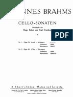 Brahms - Cello Sonata No1 in E Minor Op38 Becker Schott Piano