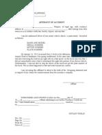 Affidavit of Accident - Template