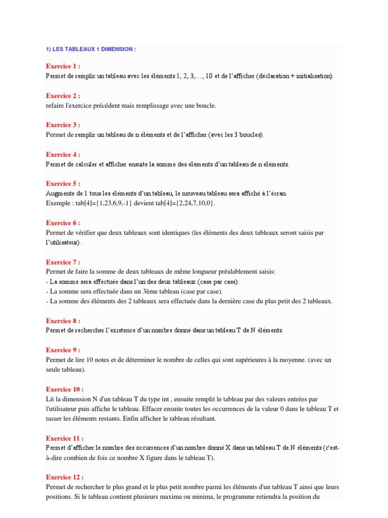 Tableau Docx Matrice Mathematiques Tableau Structure De Donnees