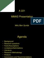 Sunds MMAS Presentation