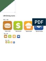 UM Dining Icons
