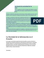 La Sociedad de la Información en el Ecuador
