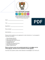 Concerts Committee Application Fall 2013