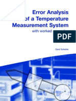 Error Analysis of a Temperature Measurement System With Worked Examples Gerd Scheller 32 Pages Feb 2003