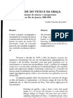 A cidade do Vício e da Graça - O consumo de tóxicos e entorpecentes no Rio de Janeiro, 1890-1930 (por Getúlio Nascentes da Cunha)