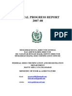 Pakistan Seeds Annual Progress Report 2007-08