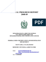 Pakistan Seeds Annual Progress Report for 2008-09