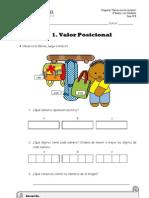 Guía N°  8 - 4° básico ( Valor Posicional y Equivalencias)