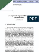 DIEZ PICAZO Luis - La Culpa en La Responsabilidad Civil Extracontractual (2001)