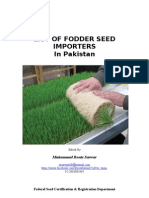 List of Fodder Seed Importers i Pakistan