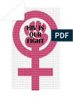 Natalie Wittlin HIV is OUR FIGHT Activist Packet