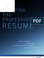 Crafting the Professionals Resume