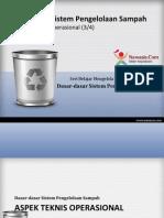 Aspek Teknis Operasional Pengelolaan Sampah (3/4)