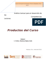 Productos Analisis Textual