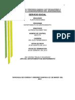 Reporte Final de Sevicio Social ALFREDO EXELENTE ET