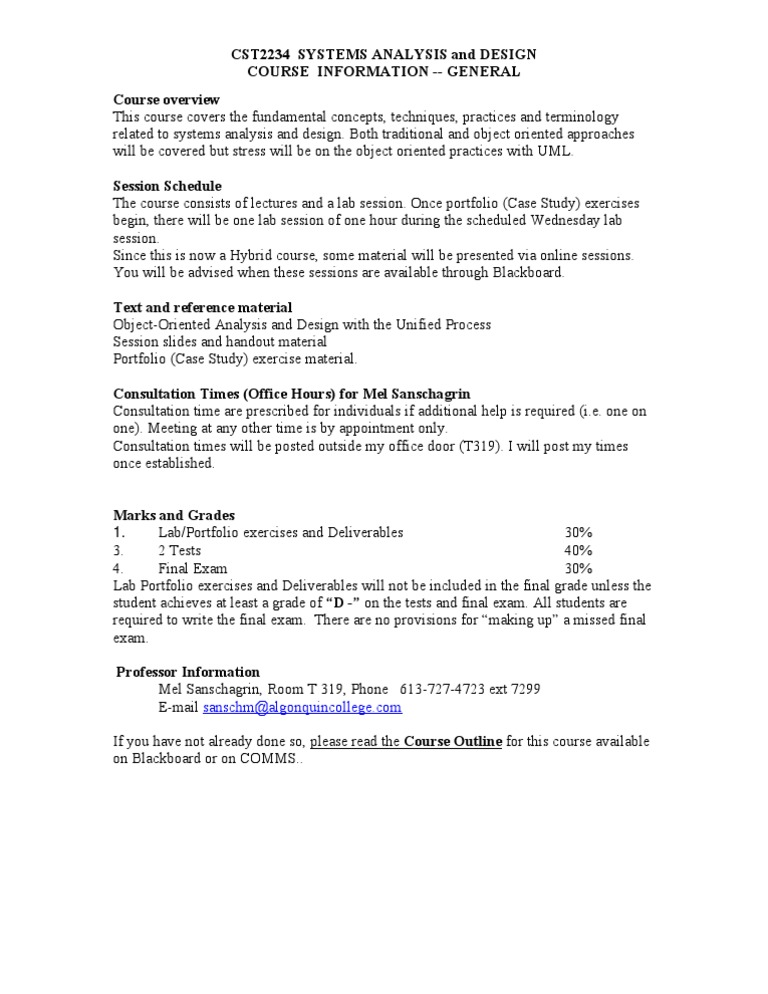 Course Overview Cst2234