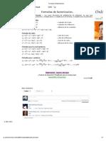 Formulas de Factorizacion