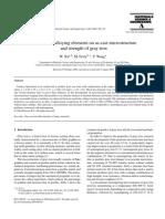 Influence of Alloying Elements on C.I.