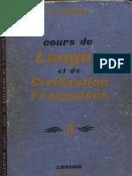 Cours de Langue Et de Civilisation Francaises II G M