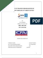 Training and Development in Max Newyork Life Insurance