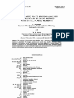 Elasto-plastic Plate Bending Analysis by a Roundary Element Method With Initial Plastic Moments