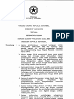 UU Nomor 30 Tahun 2009 Tentang Ketenagalistrikan