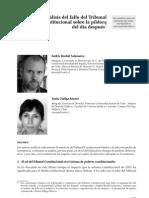 Análisis del fallo del Tribunal Constitucional sobre la píldora del día después (Andrés Bordalí S. y Yanira Zúñiga A., 2009)