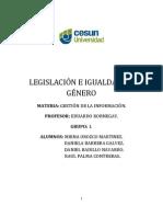 Legislación e Igualdad de Genero