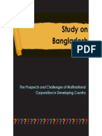 The Prospects and Challenges of Multinational Corporation in Developing Country(A Study on Bangladesh)
