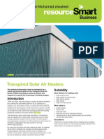 Transpired Solar Air Heaters