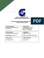 Halaman Kulit Hadapan Kerja Projek Ppg