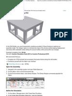 Assembly Optimization Using FEA