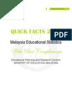 Malaysia Educational Statistics 2012 (Quick Facts)