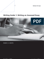 Writing Guide Assessed Essay 2009