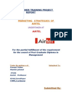 summertrainingprojectreportonmarketingstrategiesofairtel IMRT