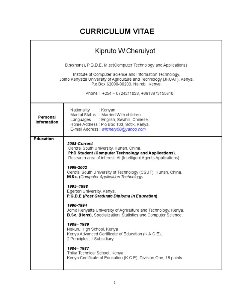 stunning area of interest in resume for computer science gallery