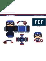 Captain America MiniPapercraft by Gus Santome