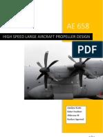 High Speed Large Aircraft Propeller Design