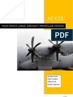 High Speed Large Aircraft Propeller Design
