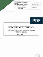 Specificatie Tehnica LE 5100 Tiristorizata EA 5100T Reloc
