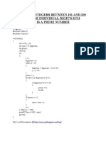 C program to find sum of integers between 201 to 300 whose individual digits are prime in nature
