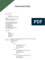 C program for Binary Search Tree
